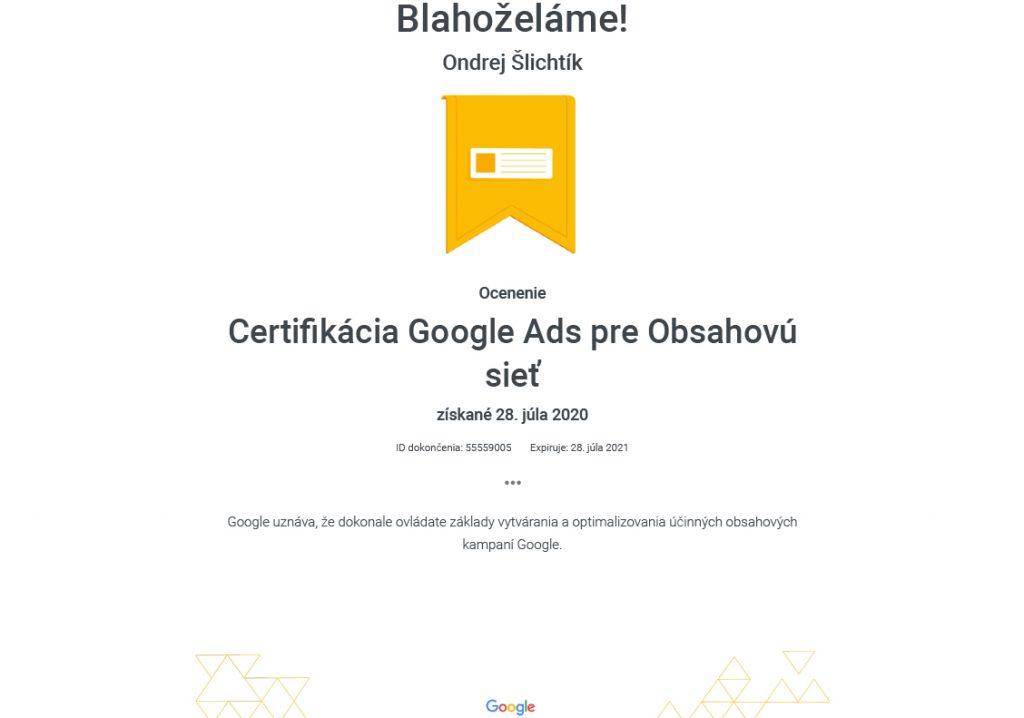 certifikat-google-ads-pre-obsahovu-siet