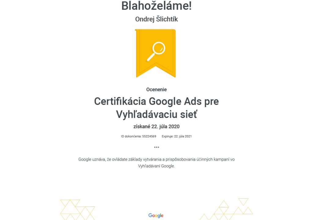 certifikat-google-ads-vo-vyhladavani